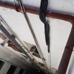Instalación en patio interior aire acondicionado Mitsubishi